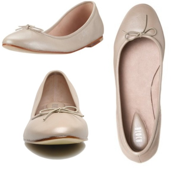 92b7c50b023f Bloch Shoes - BLOCH beige ballet flats with elastic tie