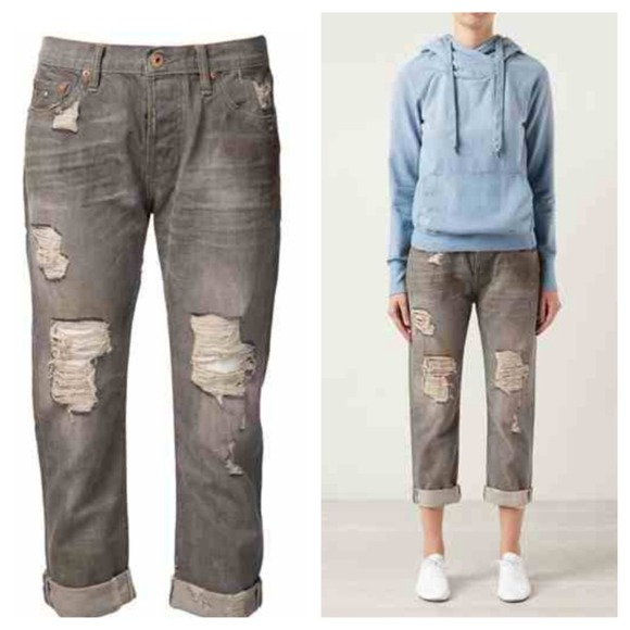51% off NSF Denim - NSF Grey Slouch distressed Jeans from Shop my ...