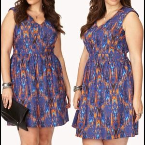 Forever 21+ Dresses & Skirts - Ikat fit & flare dress - XL