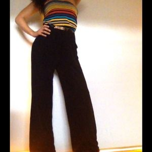 Other - Colorful wide leg strapless jumpsuit!