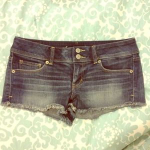 American Eagle Denim Shorts. Frayed @ ends