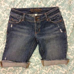 A&F Bermuda Jean Shorts