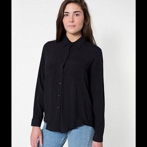 American Apparel Tops - American Apparel Basic Button-Up Blouse