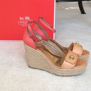 Coach Wedge Sandals. SIZE 6. Comes with box.