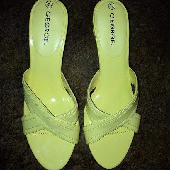 57% off Shoes - Pastel yellow heels from Amanda's closet on Poshmark