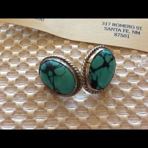 Saiz Sterling Silver and Turquoise Earrings