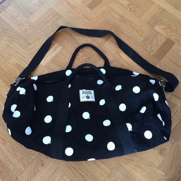 3f28a0b3a PINK Victoria's Secret Bags | Victorias Secret Pink Polka Dot Duffle ...