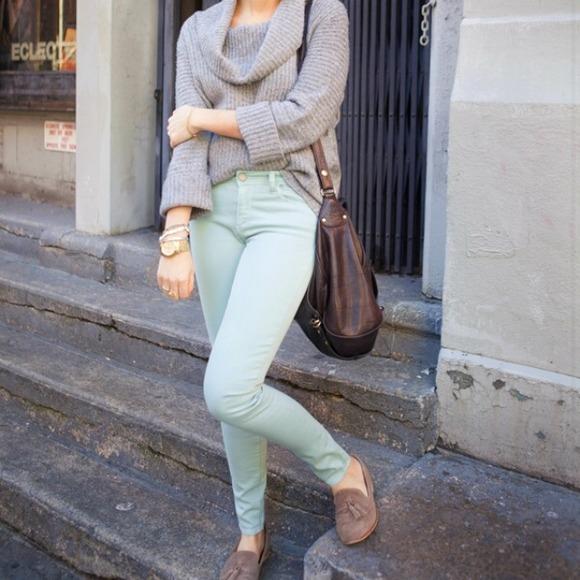 65% off Free People Pants - FREE PEOPLE pastel green ankle pants ...