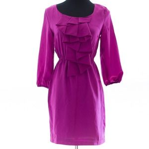 *REDUCED FROM $20* Fuchsia ruffled dress w/pockets