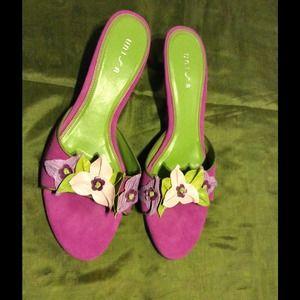Unisa Shoes - Unisa Suede/Leather multi Sandal SZ 9 1/2
