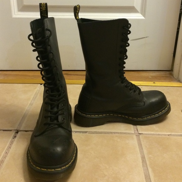 Dr. Martens - Dr. Martens Steel Toe 14 Hole leather boots from ...