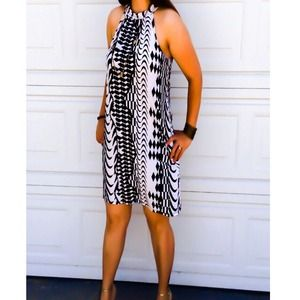 NEW black and white tunic dress