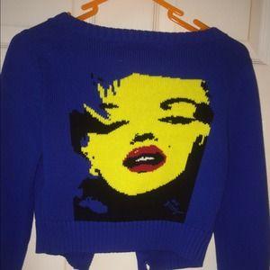 Marilyn Monroe Cropped Sweater