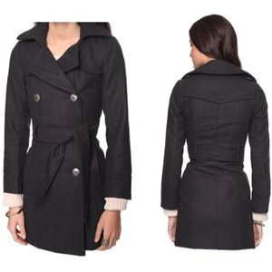 Forever 21 wool belted peacoat