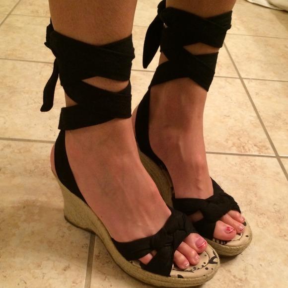 647309a4abe MIA black lace up espadrilles sandals. M 538e1c7d32fe142f3d084bbc