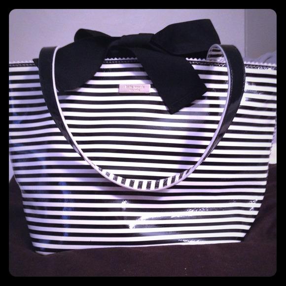 Black And White Striped Handbags Black White Stripe Kate