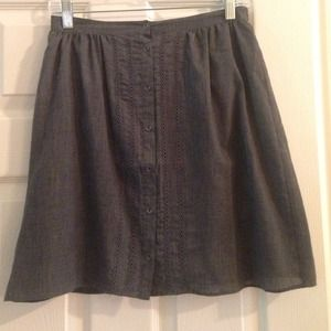Dresses & Skirts - Gray button down eyelet skirt
