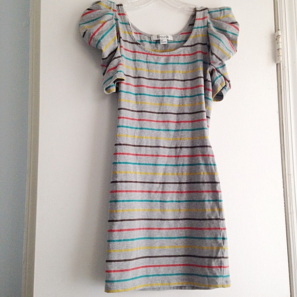 Forever 21 Dresses - Forever 21 Striped Bodycon Dress, Size S