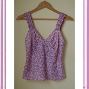 Marc Jacobs Tops - Marc Jacobs Lavender Silk Peplum Top Sz 2
