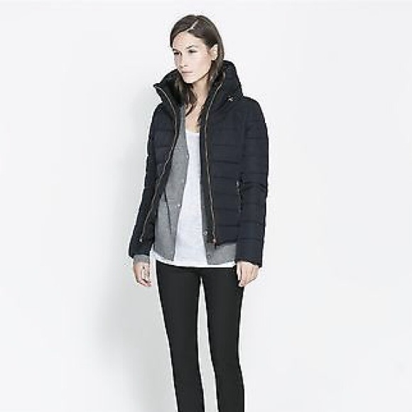 Zara - SOLD! ZARA Short Combination Anorak Puffer Jacket from Y's ...