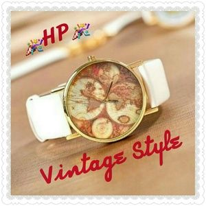 Last One❤Host Pick❤Vintage Old World Map Watch
