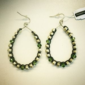 roberta chiarella Jewelry - Swarovski & Pyramid Box Stud Hoop Earrings