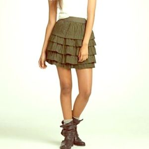 J. Crew Dresses & Skirts - J. Crew Forest Green Layered Mini