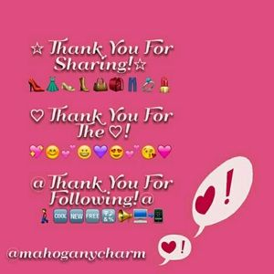 THANK YOU FOR SHARING, LIKING, AND FOLLOWING!