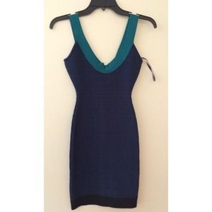 Authentic Herve Leger Dress NAVY BLUE