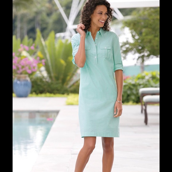 Chadwick S Of Boston Dresses Flash Mint Gingham Shirt