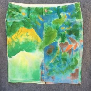 Anthropologie hand painted skirt