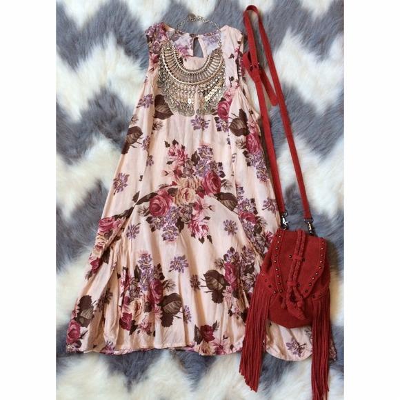 SOLD! HOST PICK X2 Brandy Melville Floral Dress
