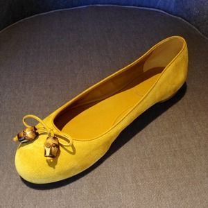 Gucci Bamboo Suede Flats