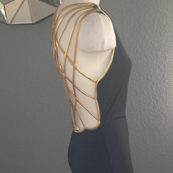 Agaci white and gold dress