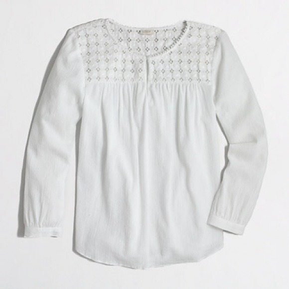 04596efcf2a J. Crew Tops | J Crew Factory Embroidered Peasant Top | Poshmark