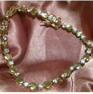 Jewelry - .925 Heart & CZ/Crstl Tennis Bracelet