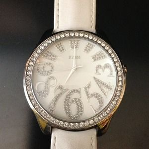 REDUCEDWhite Guess watch