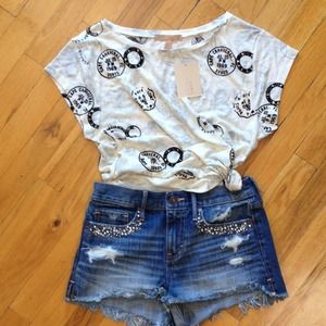 CUTE  ZARA T SHIRT NEW W/TAGS