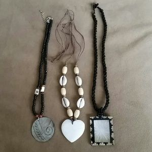 Shell and Beaded Necklaces (3)