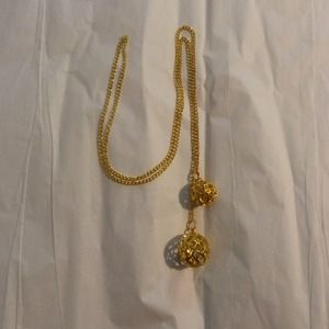 Double ball necklace chain necklace