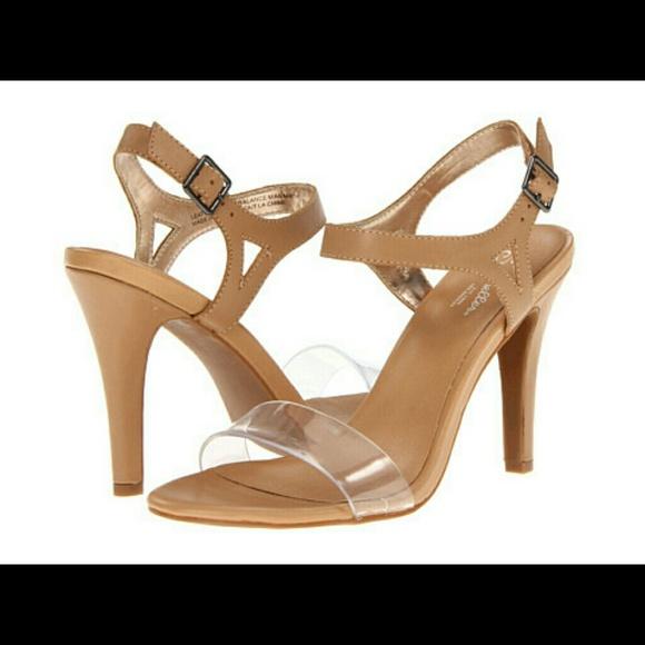 Seychelle Saffron Nude Clear Strap Heels