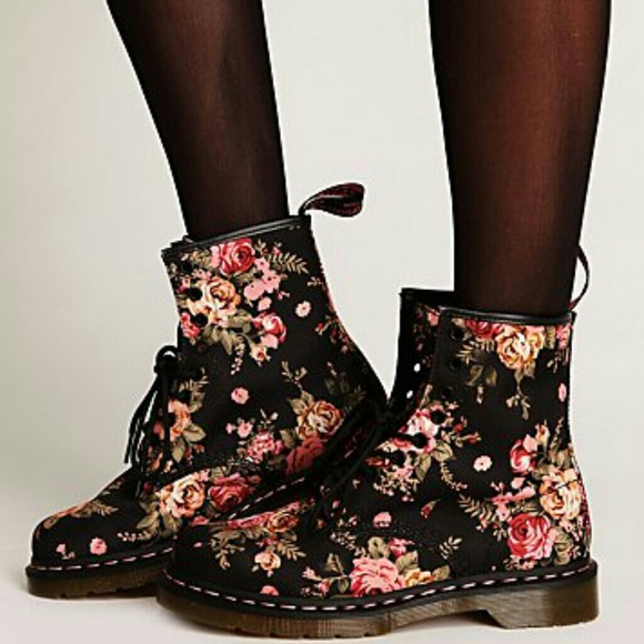 29% off Dr. Martens Boots - SOLD*Doc Marten x Free People Floral 7 ...