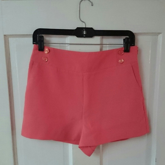 44% off Forever 21 Pants - Forever 21 coral high waisted shorts ...