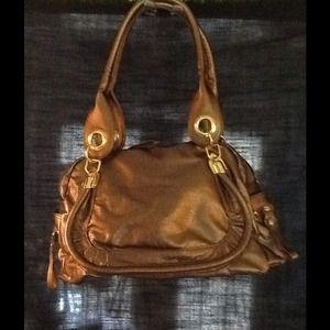 Handbags - Shiny Bronze Handbag