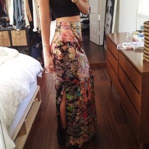 ASOS Skirts - ASOS Maxi Skirt in Floral Digital Print Size 4