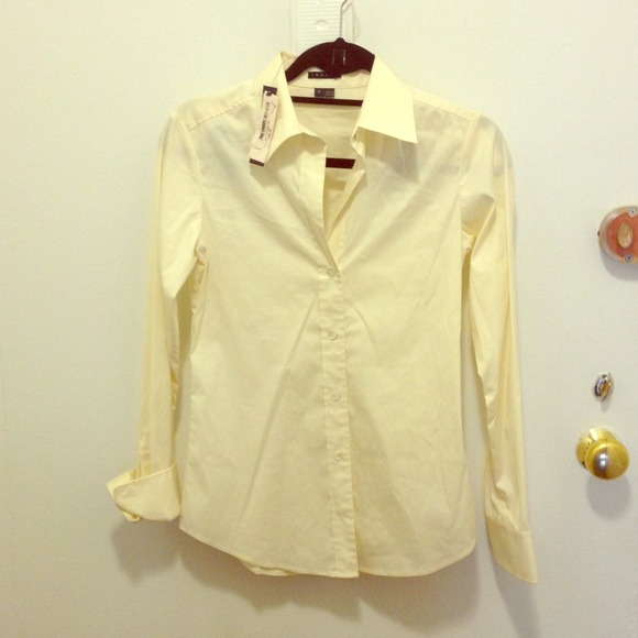 52 off theory tops theory button down shirt yellowish