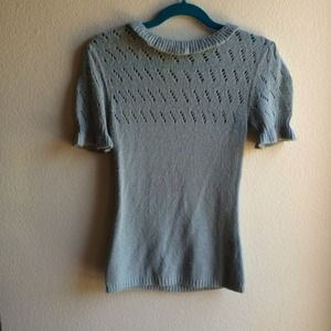 Blue Betsey Johnson Short Sleeved Sweater Top