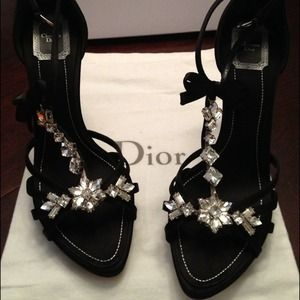 Dior Swarovski crystal sandal size US 10