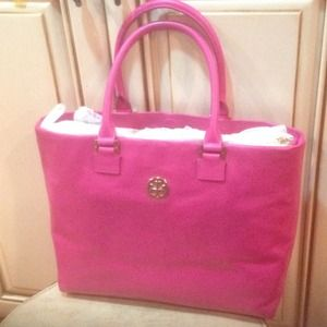 Tory Burch magenta tote shoulder bag