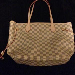 Handbags - Reserved!!! Louis Vuitton MM neverfull azur